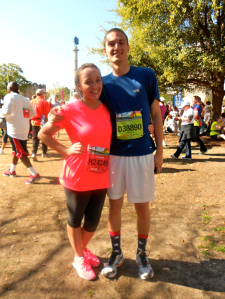 Whew! I may be looking rough, but John and I were feeling pretty good after our first 10k!