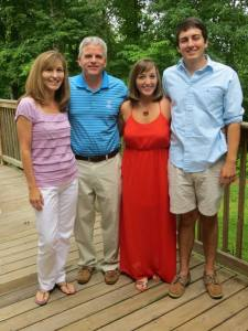 My family and I before celebrating with a delicious birthday dinner!