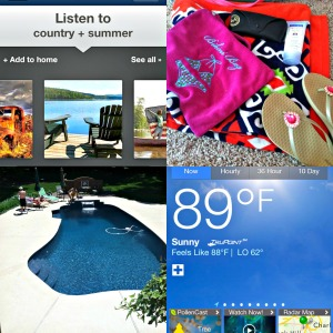 Feelin' hot, hot, hot! What a great, sizzlin' day for some country tunes, a beautiful pool, and of course, a well stocked pool bag!