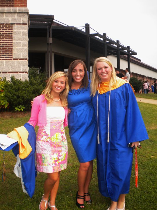 Since I'm lazy and can't find the SD card with my graduation pictures on it, here's one I stole from Facebook! With my best friends from high school, right after our graduation... My how time flies!
