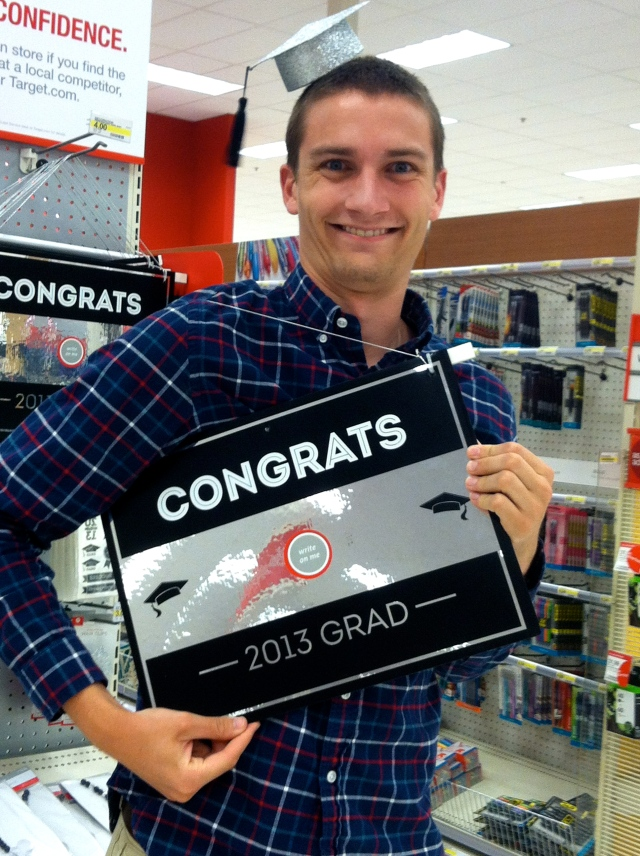 John has waaaay too much fun at Target sometimes...