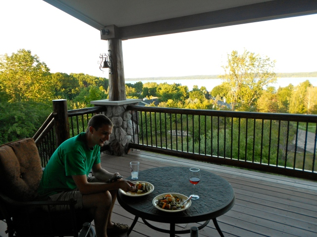 Can we stay forever? Look at that view of the beautiful Torch Lake!