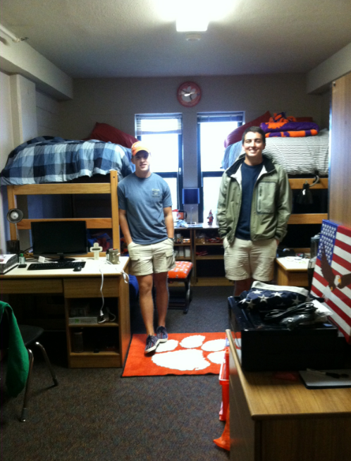 Corey and his roommate/ best friend since second grade, Peter, on move-in day!