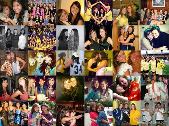 Loser- Chelsea made herself feel better during Clemson Recruitment constructing this pic collage....