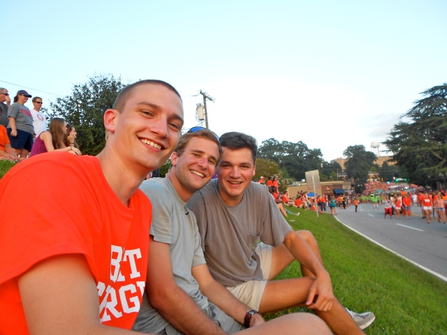 John, Spencer, and Michael enjoying the parade