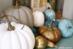 chalk paint pumpkin