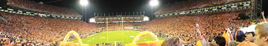 John took this panoramic with about 30 minutes still to go before kick-off... It was a packed stadium!