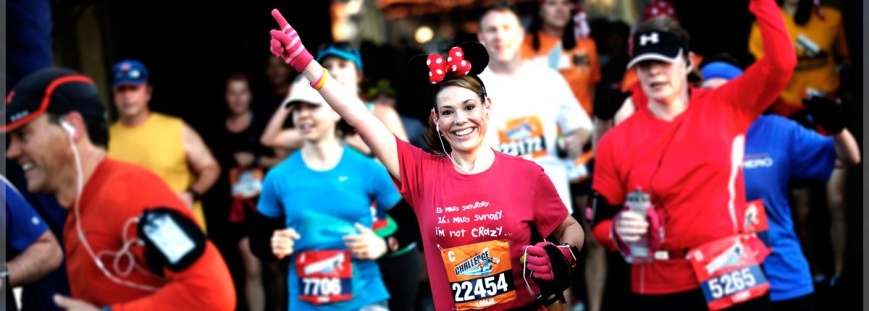 A Disney half marathon, to be exact.... I can't wait to be the one running in mouse ears!
