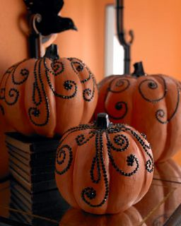 These pumpkins are tacky in the best way possible!